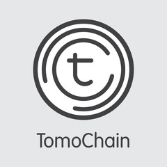 TOMO - Tomochain. The Trade Logo of Money or Market Emblem.