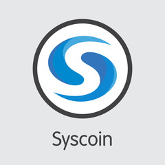 SYS - Syscoin. The Icon of Cryptocurrency or Market Emblem.