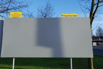 Empty billboard for election posters for the Proincial (regional) elections on March 20th 2019 in the Netherlands