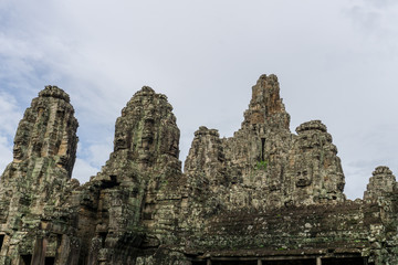The towers of the Bayon Temple in the early morning light