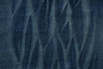 Vintage blue jeans texture pattern background.