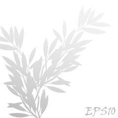 Vector abstract gray shadow background of natural leaves tree branch
