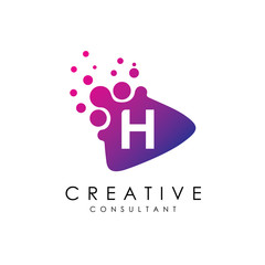 Dotted Play H Letter Logo