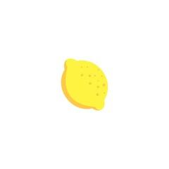 simple lemon clip art vector logo design