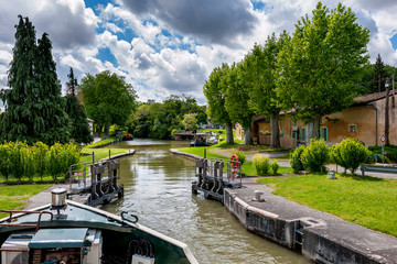 boat trip on the canal du midi near the city of Toulouse