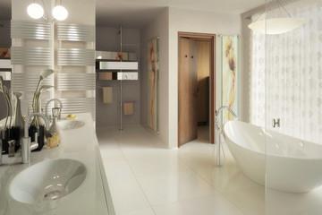 Elegant Bathroom Design - 3d visualization