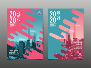 Obraz annual report 2020 ,future, business, template layout design, cover book. vector illustration,presentation abstract flat background. - fototapety do salonu