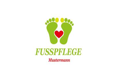Fußpflege Logo , Podologie Logo