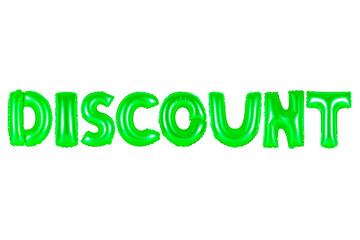discount, green color