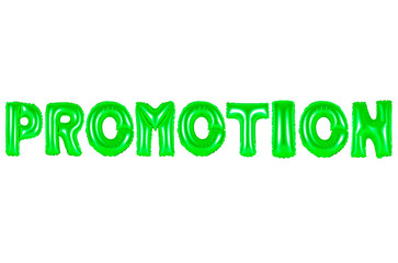 promotion, green color