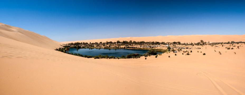 Ubari oasi in the Sahara desert, Fezzan, Libya, Africa