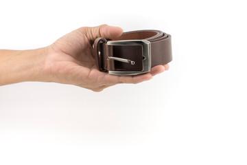 Man's leather belt.