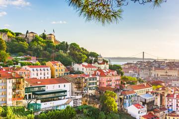 Fotomurales - Lisbon, Portugal City Skyline