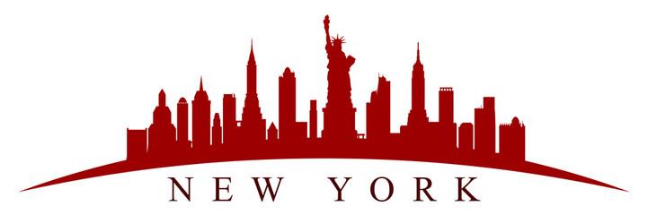 New York city silhouette - vector