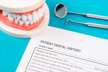 Dental health and teeth care concept.