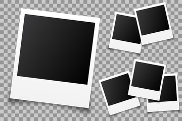 Set empty photo frame - vector for stock