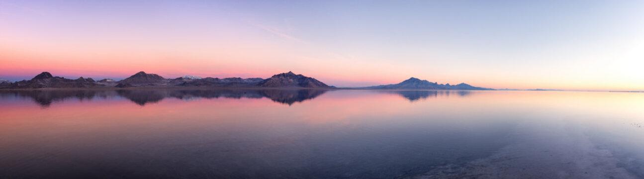 Bonneville Salt Flats at dawn