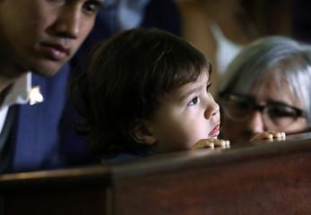 Venezuela's Guaido takes part in religious event in Caracas