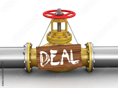 Pipeline with Deal  Image with clipping path