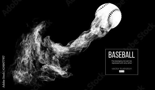 Astounding Abstract Silhouette Of A Baseball Ball On Dart Black Beutiful Home Inspiration Cosmmahrainfo