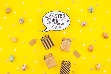Creative Top view holiday Easter Sale Concept