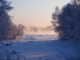 winter landscape , Oulu,, Finland