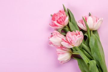 Mother's day concept - flowers, present, calendar, copy space