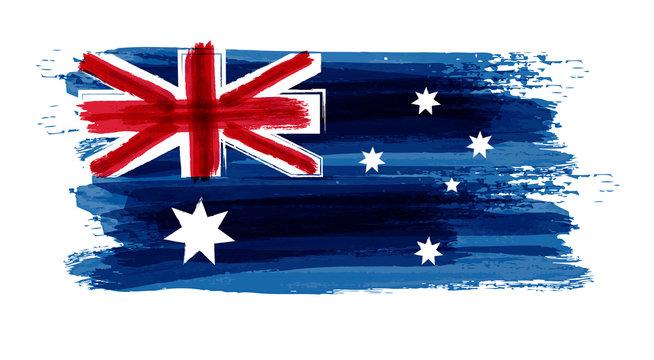 Grunge Australia Flag