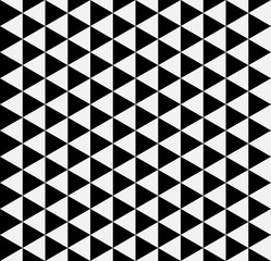 Black and white  simple triangle seamless pattern. Retro design. Vector background.