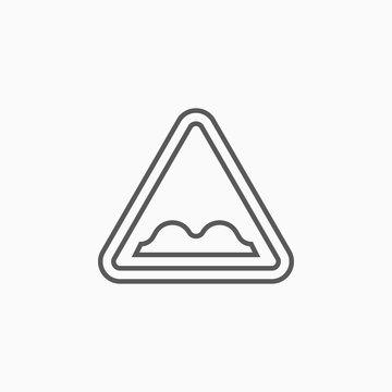 uneven road icon, bumpy road vector