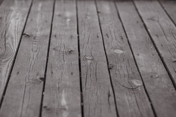 close up decorative background of old wooden bridge floor