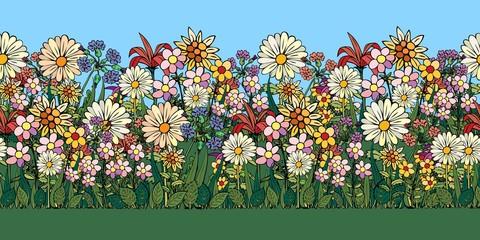 Floral seamless illustration.