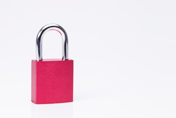 Closed red padlock