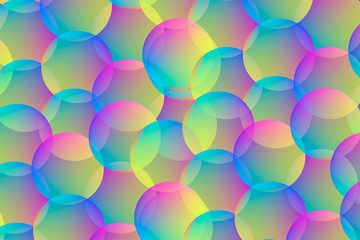 Gradient rounds. Geometric colorful background