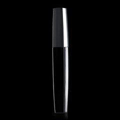 Mascara black brush beauty on a black background. Isolation