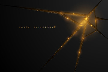 Abstract black and golden dot background Fototapete