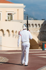 Royal guard in Monaco