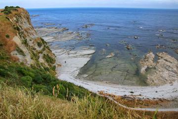 Coastline of Kaikoura Peninsula, South Island, New Zealand