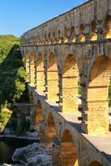 Aqueduct Pont du Gard in southern France