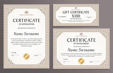 Certificate template set