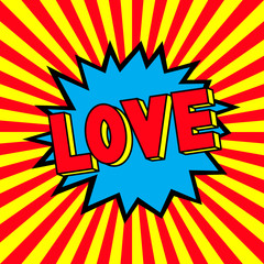 Word Love in the pop art explosion