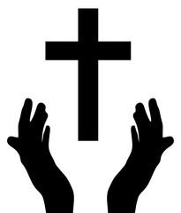 vector hands praying