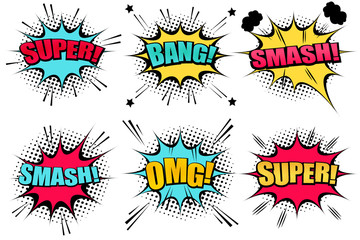 Comic speech bubbles collection