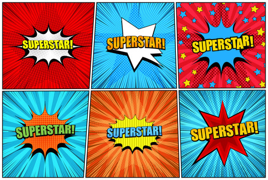 Comic superstar bright collection