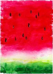 Delicious watermelon watercolor background