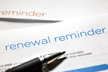 Obraz renewal reminder letter - fototapety do salonu