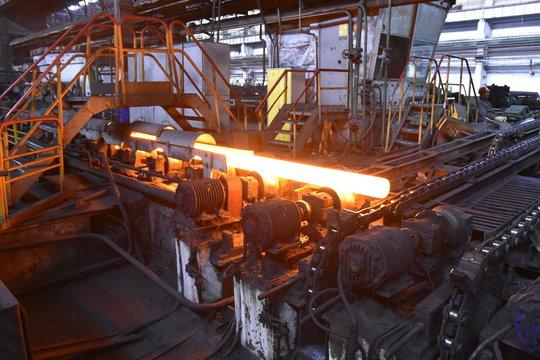 Huta stali i walcownia rur w Krzywym Rogu na Ukrainie