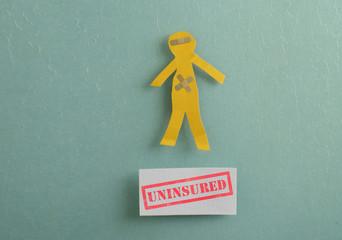 Uninsured healthcare message