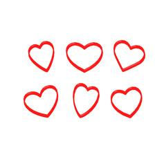 Hearts brush scarlet