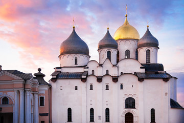 Saint Sophia cathedral of Veliky Novgorod, built in XI century, one of the most ancient Russian Orthodox churches, Russia Wall mural